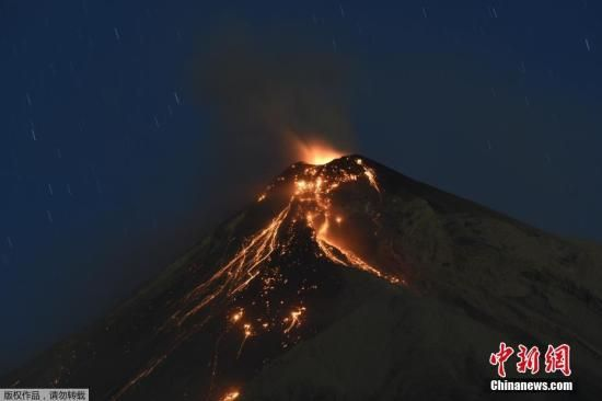 资料图:危地马拉的火山喷发。