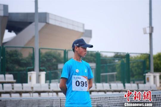 中网球童在选拔活动中。中网供图
