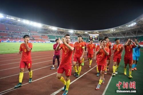 摄 U19国足。 中新社记者 刘冉阳 摄