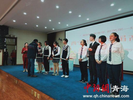 图为最终大通县第二中学获得冠军,青海湟川中学获得亚军。张海雯摄