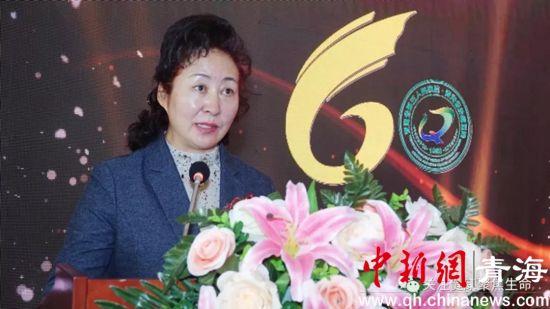 图为青海省卫健委党组书记、主任吴捷讲话