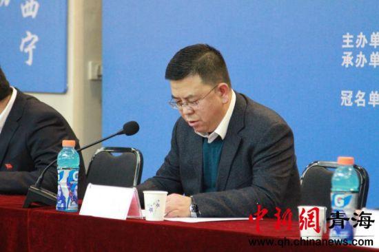 图为西宁市体育局局长韩斌。李培源摄
