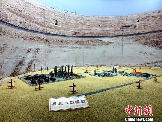 图为青海油田涩北气田的模型。 孙睿 摄