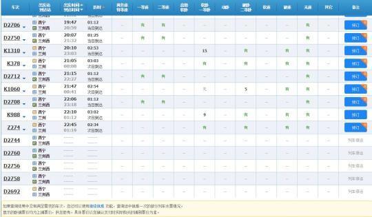 截至记者发稿时,中国铁路12306官网显示,目前由西宁至兰州西D2744、D2760、D2758、D2692次等列车仍处于停运状态。 微博截图