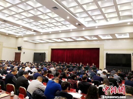 图为青海省2019年凯旋门真人娱乐平台和改革工作会议现场。 张添福 摄