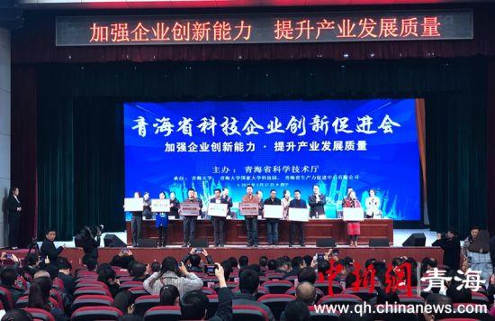 图为青海省科技企业创新促进会现场。