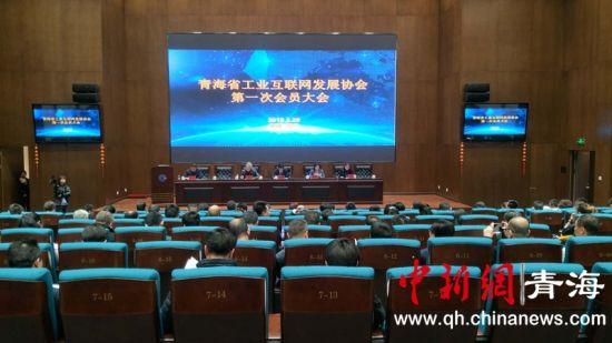 图为青海省工业互联网发展协会成立仪式现场。