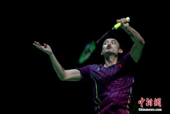 图为林丹在比赛中。中新社记者 吕明 摄