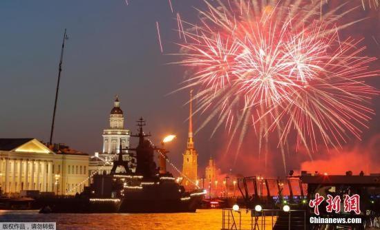 圣彼得堡夜晚。