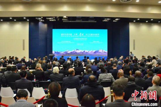图为26日举行的外交部青海全球推介活动现场。 鲁丹阳 摄