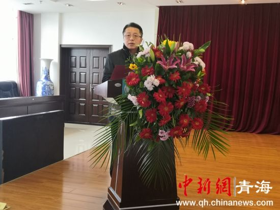 图为建行青海省分行副行长刘玉武致辞 潘雨洁 摄