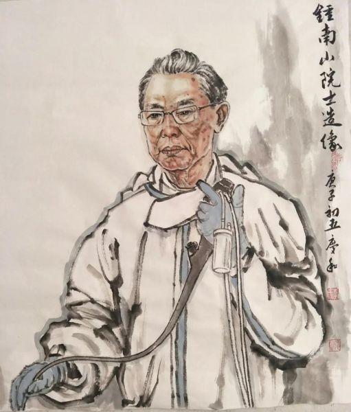 李庆和《钟南山院士造像》