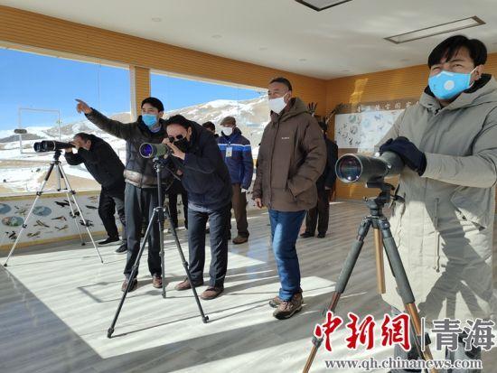图为青海隆宝国家级自然保护区工作人员利用全方位探头监控系统开展野生动物监测。钟欣摄