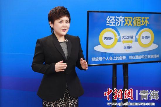 图为安利中国总裁余放在创业论坛发表演讲。安利中国供图