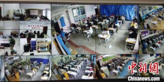 图为青海省人事考试指挥平台进行考场监控。 胡秀琴 摄