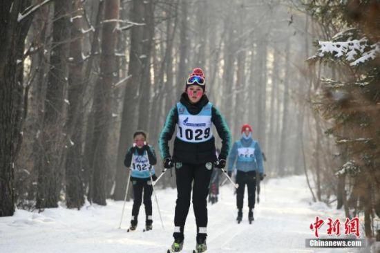 资料图:越野滑雪比赛。中新社记者 张瑶 摄