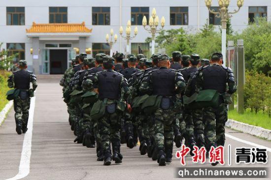图为武警官兵进行战备应急演练。 马敏摄