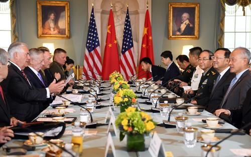 首轮中美外交安全对话在华盛顿开始举行