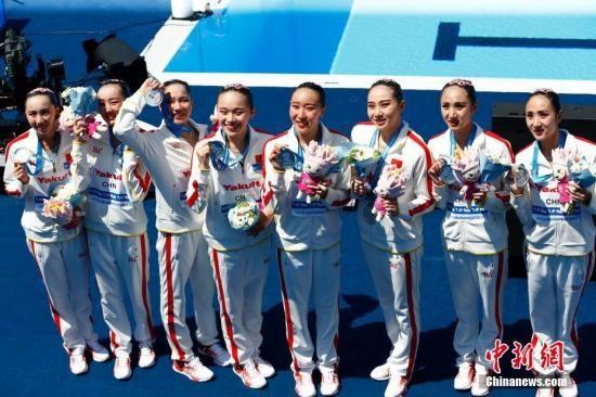中国花游集体技术自选摘银 跳水混合全能无缘奖牌