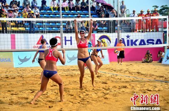 2017年世界沙滩排球巡回赛广西钦州公开赛开赛