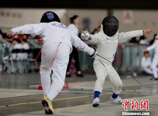 2018年中国击剑俱乐部联赛长沙站开赛 四千余人参赛